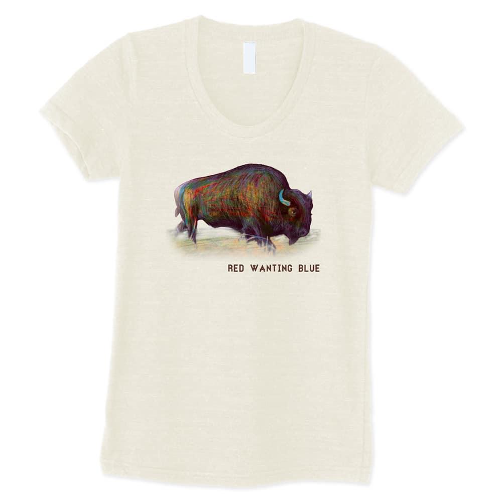 Red Wanting Blue Buffalo Shirt Girl