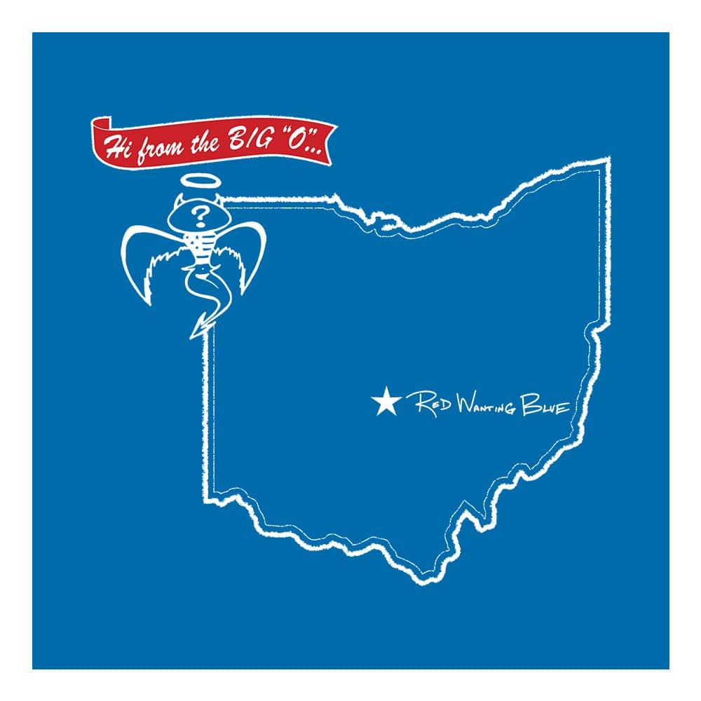 Red Wanting Blue Ohio Flag Shirt Front Design